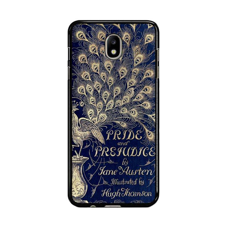 Flazzstore Cover Book Jane Austen Z0111 Custom Casing for Samsung Galaxy J7 Pro 2017 - Blue