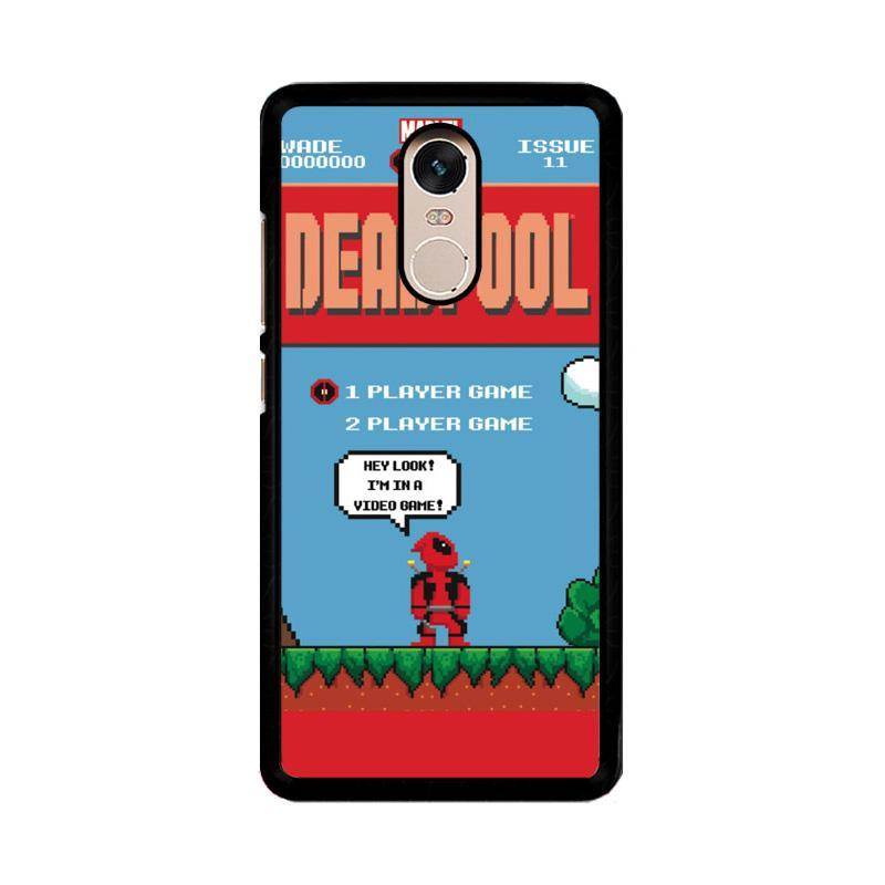 Flazzstore Deadpool Mario Bross Z1218 Custom Casing for Xiaomi Redmi Note 4 or Note 4X Snapdragon Mediatek