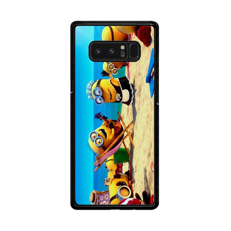 Flazzstore Minions In Beach Vocation Z0465 Custom Casing for Samsung Galaxy Note8