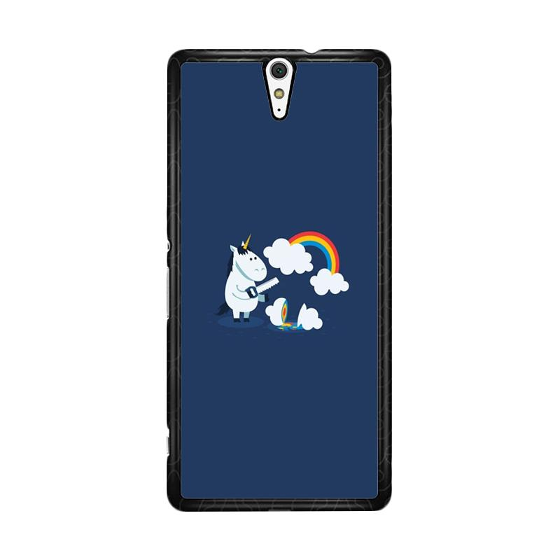 Flazzstore Unicorn Rainbow O0009 Custom Casing for Sony Xperia C5 Ultra