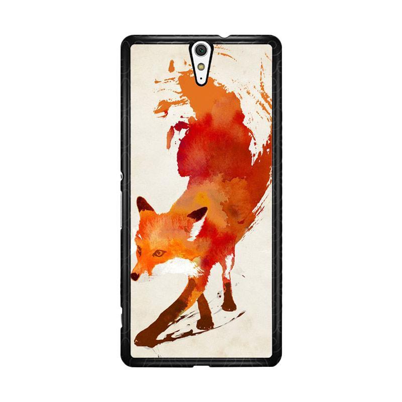Flazzstore Watercolor Art Orange Red Fox Animal F0246 for Sony Xperia C5 Ultra