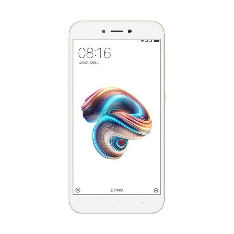Harga Terbaru Xiaomi Redmi 5A Smartphone – Gold [16 GB/ 2 GB]