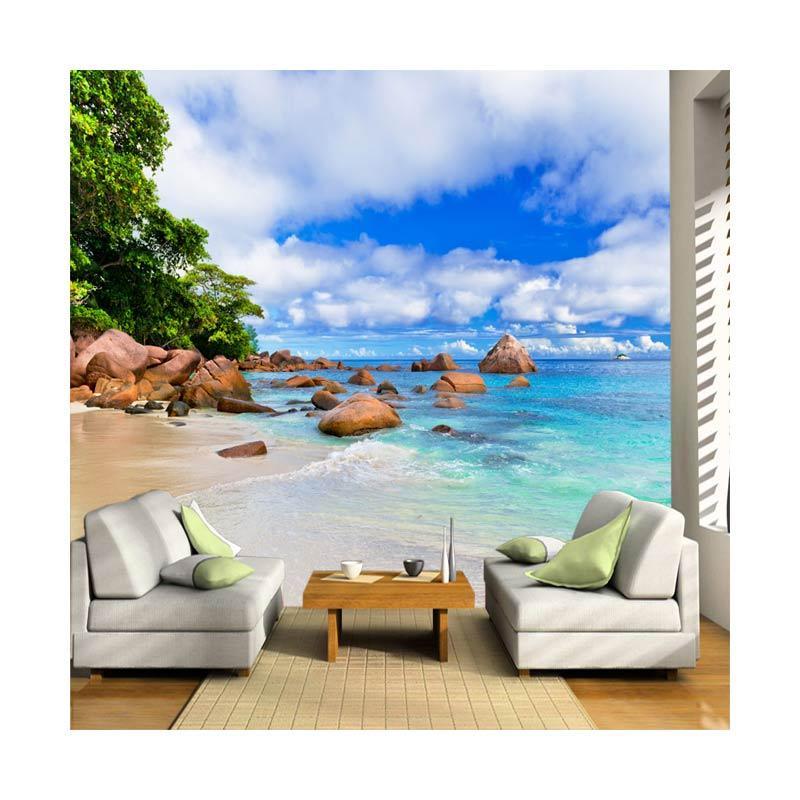 Wallpaper Murah Jogja P 001 Pantai 3d Wallpaper Dinding