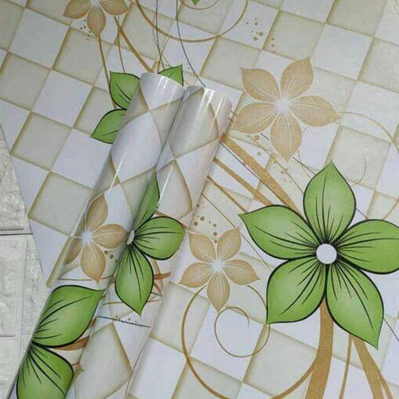 oem wallpaper dinding sticker ranting bunga hijau minimalis full03 dgwljcu6