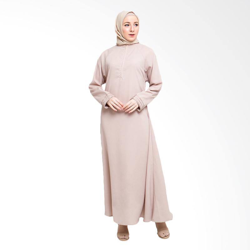 Allev Husna Dress Muslim - Cream