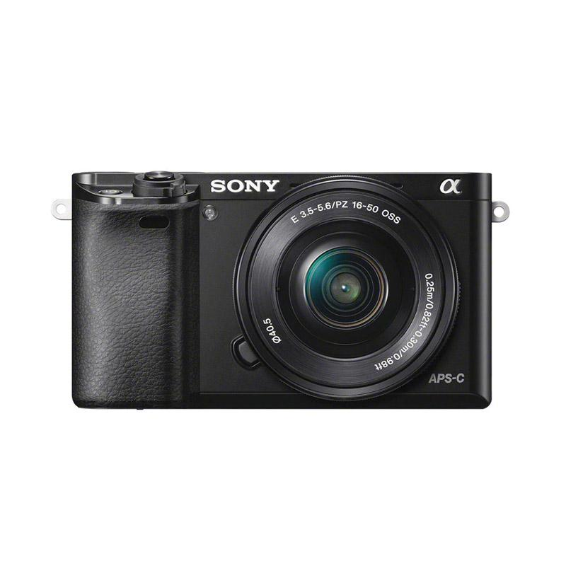 Sony Alpha A6000 Kit 16-50mm F3.5-5.6 OSS Kamera Mirrorless - Black