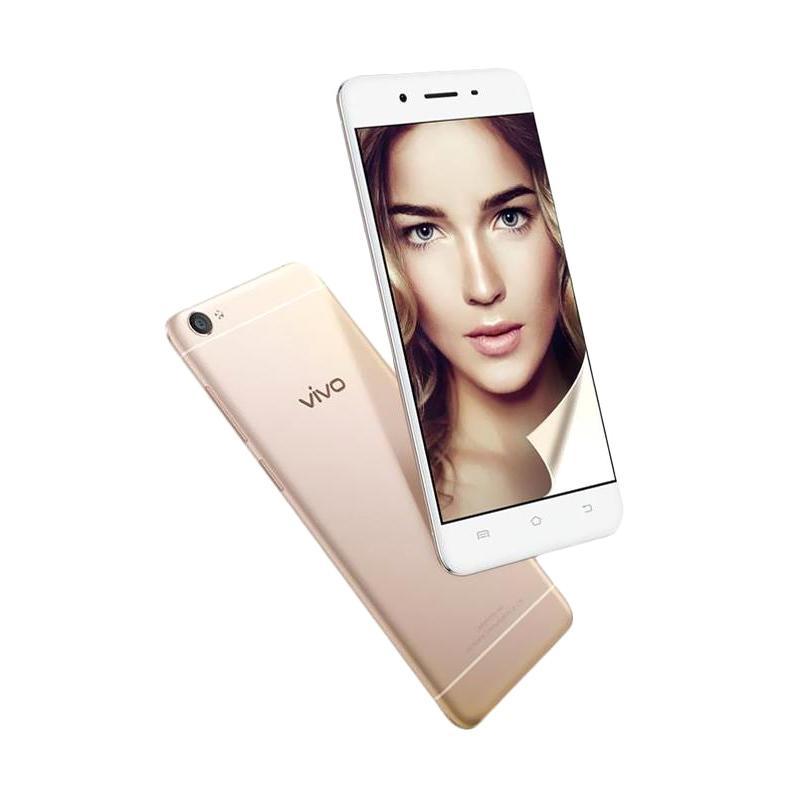 harga VIVO Y55S Smartphone - Gold [2GB/16GB] + Free Memory V-Gen 16 GB, Silicon Case Blibli.com