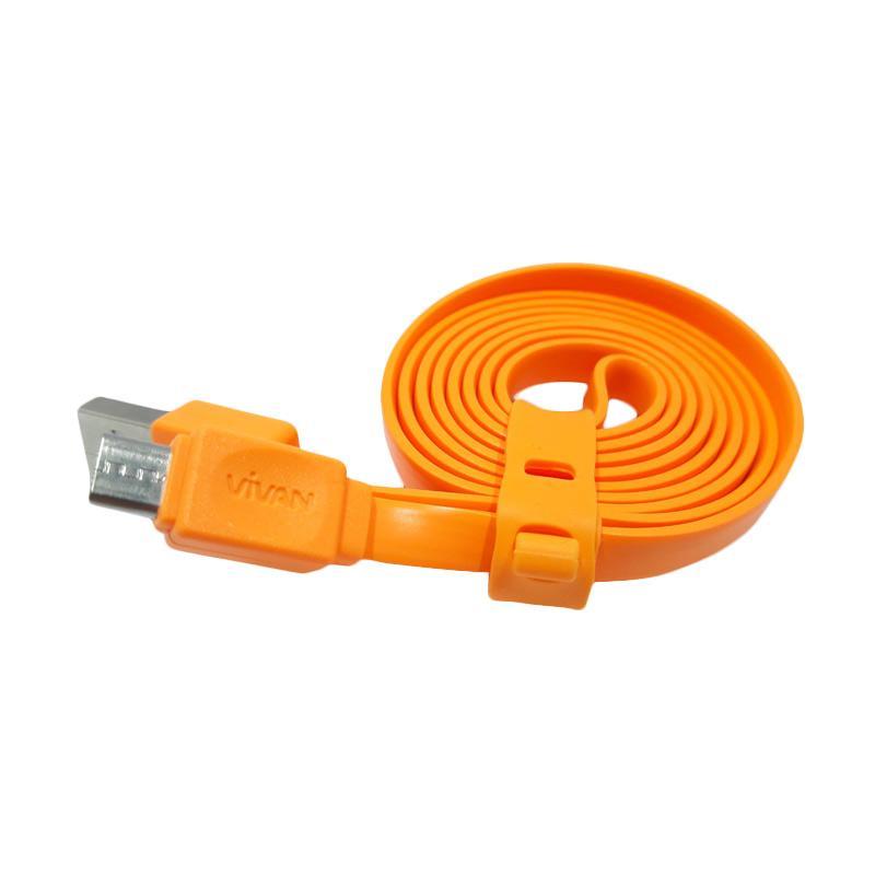 Vivan CSM 100 USB Data Cable - Orange