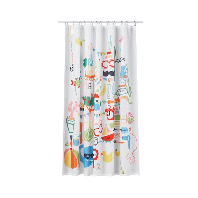 IKEA Badback Tirai Shower + Ring Tirai