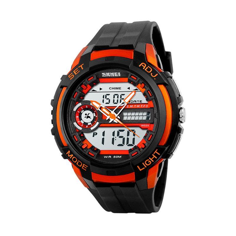 Skmei 1202 Jam Tangan Pria - Black Orange