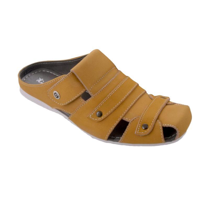 Golfer Two Strips Sandal Pria - Tan