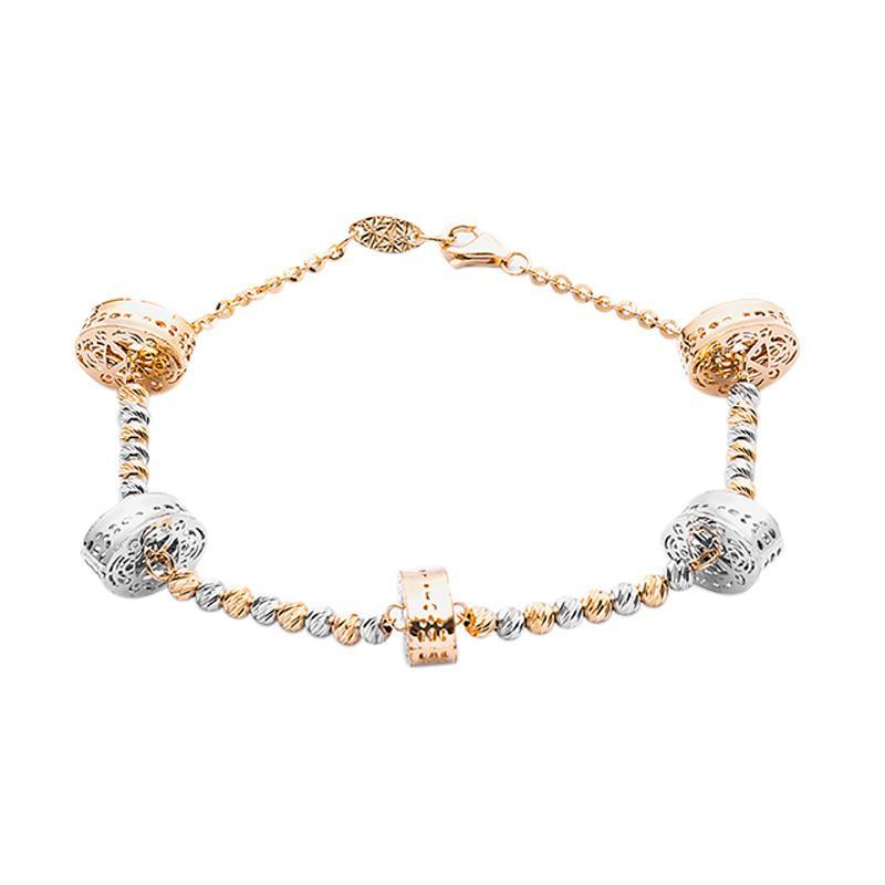 Gelang Emas Kadar 75 - Circle Gold Bracelet-WHIZLIZ