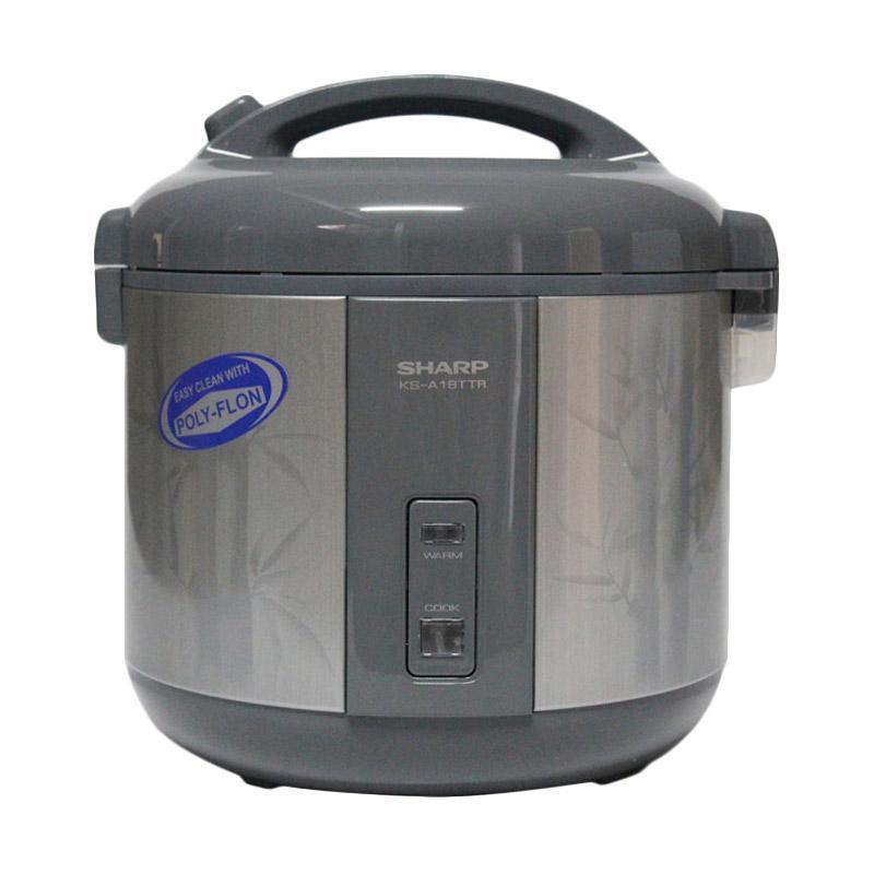 SHARP KSA18TTR Rice Cooker - Abu [1.8 L]