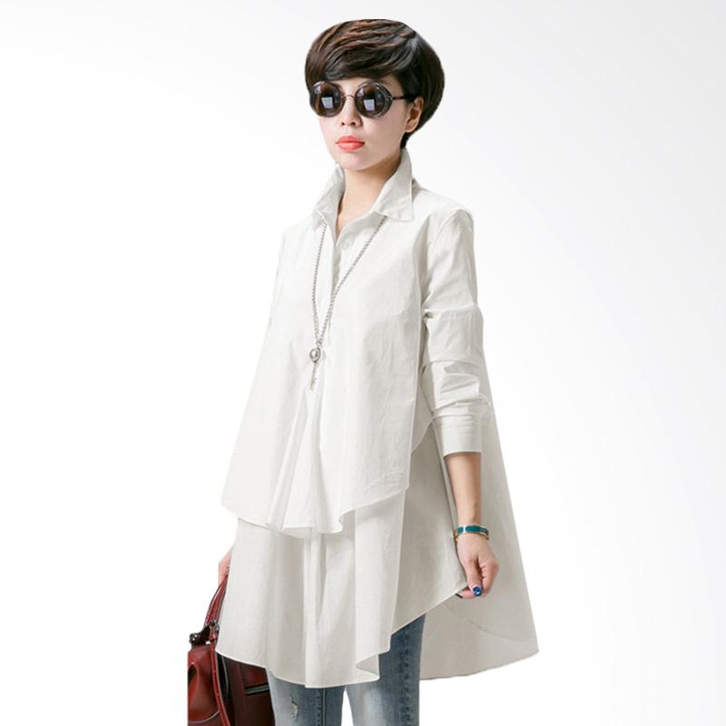 Ayako Fashion Laza Blouse - White