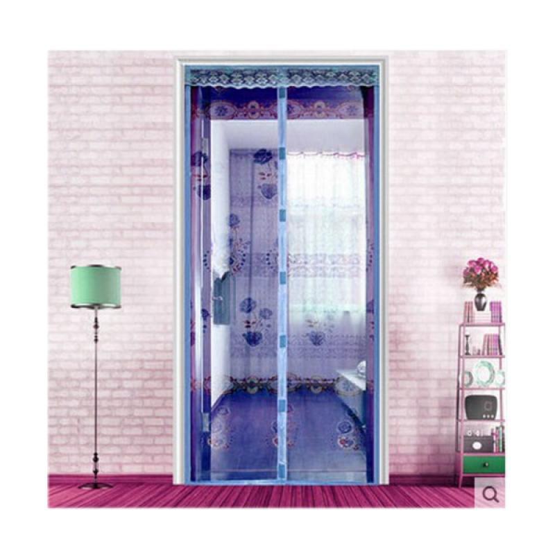 Dapur Gorden Tirai Pintu Magnet Biru