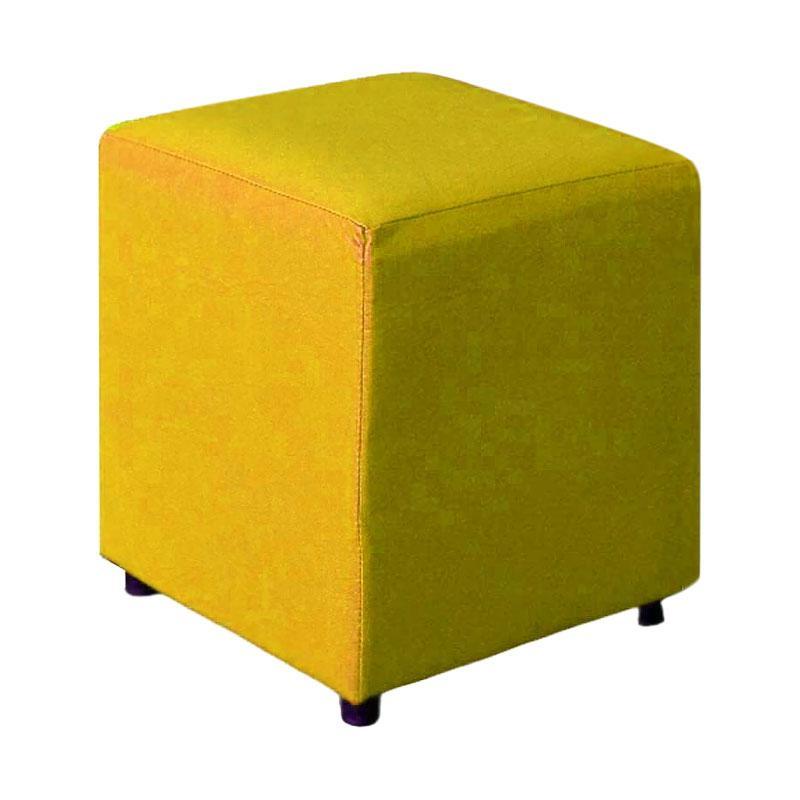 FCENTER Kursi Puff - Kuning [40 x 40 cm/Jabodetabek]