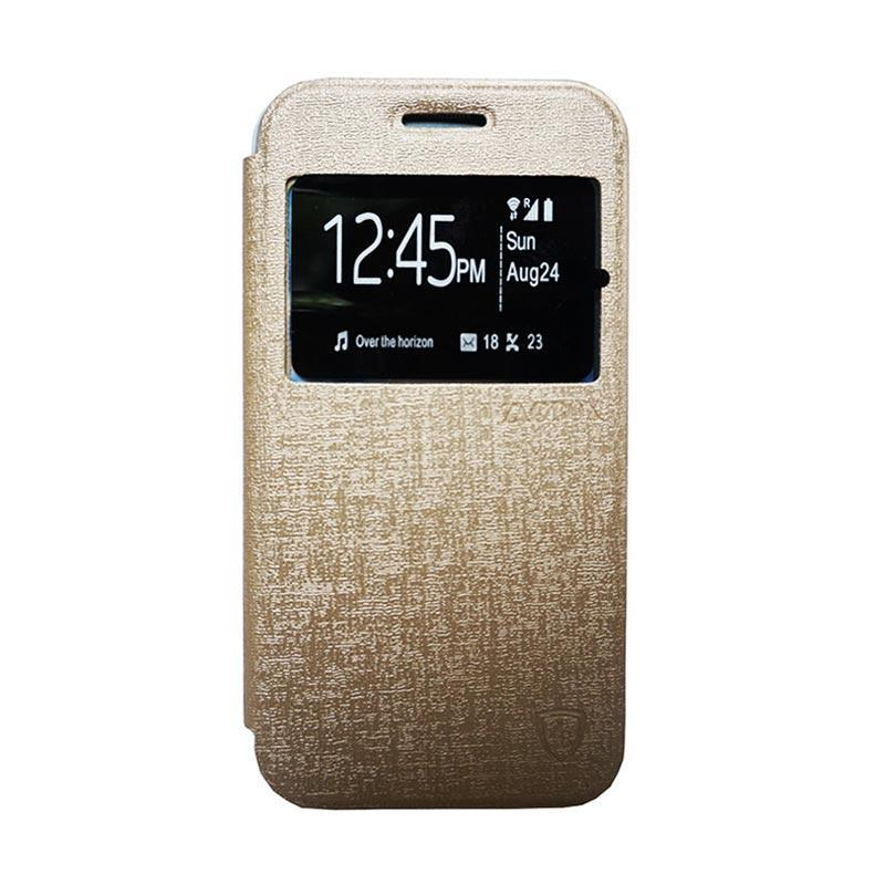 Zagbox Flip Cover Casing for Nokia N225 - Gold