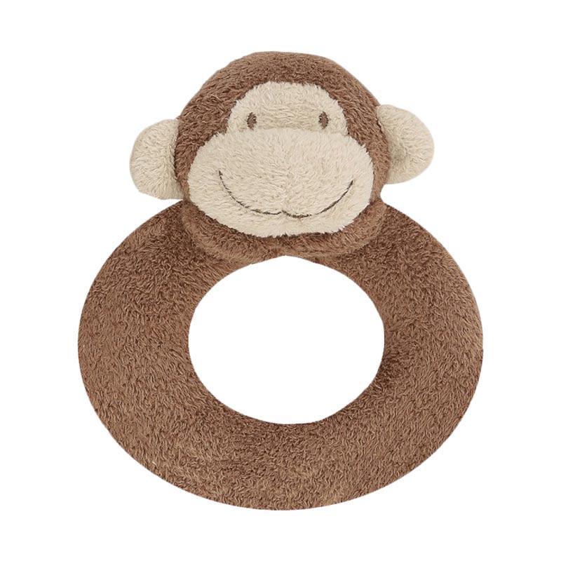 Angel Dear Ring Rattle Mainan Bayi - Monkey