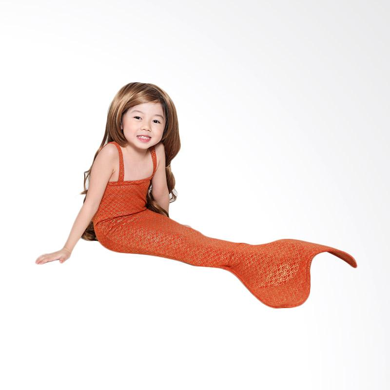 harga Mermaid Tail Swimsuit - Orange 3-4 tahun Baju Putri Duyung Anak Blibli.com