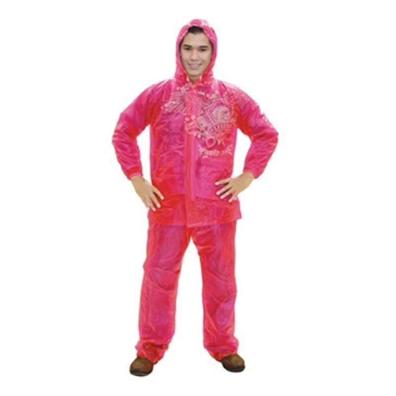 Rainwear Neon Jas Hujan - Pink