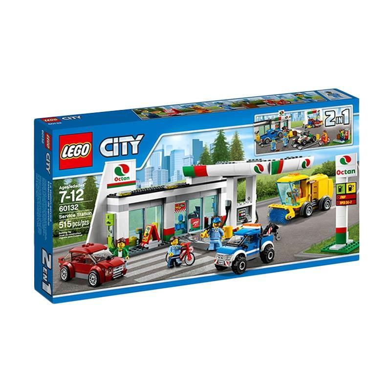 LEGO 60132 City Service Station Mainan Blocks