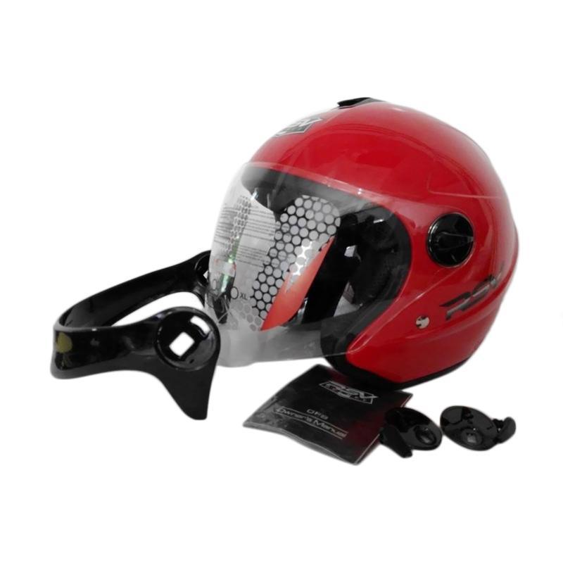 harga RSV Glosy Helm Half Face - Merah Blibli.com
