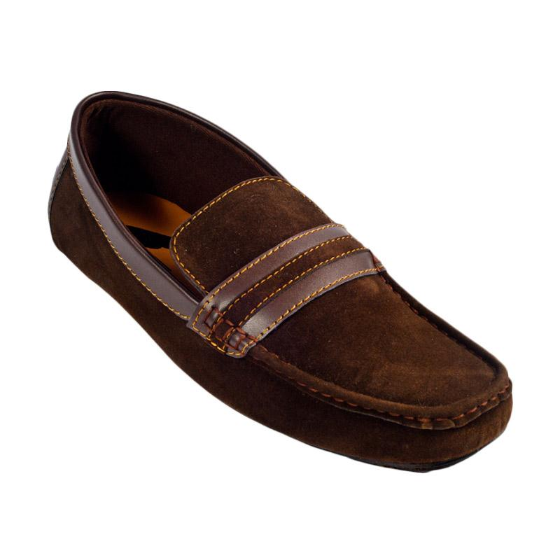 Trumph Alpha Moccasin Sepatu Pria - Brown