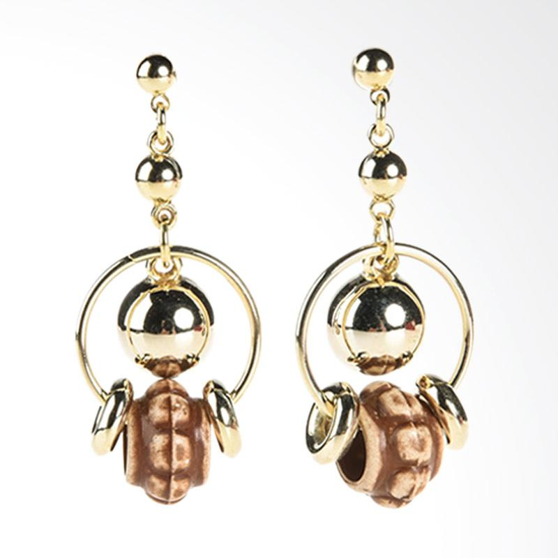 1901 Jewelry Bomba Earrings GW.2113.HR23 Anting - Brown