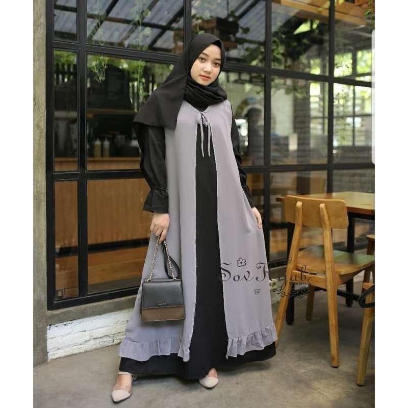 Jual Baju Gamis Casual Trend Pakaian Atasan Wanita Fashion Style Pakaian Muslim Online Maret 2021 Blibli