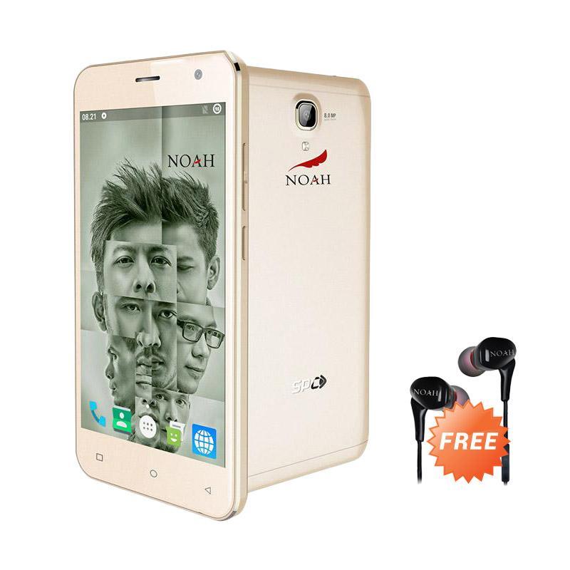 SPC Noah S12 Smartphone - Gold + Free Earphone Noah