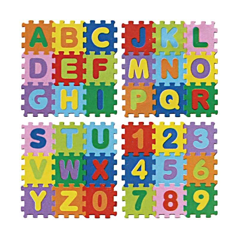 ... Harga Evamat Kid Huruf Besar & Angka Karpet 36 pcs Murah