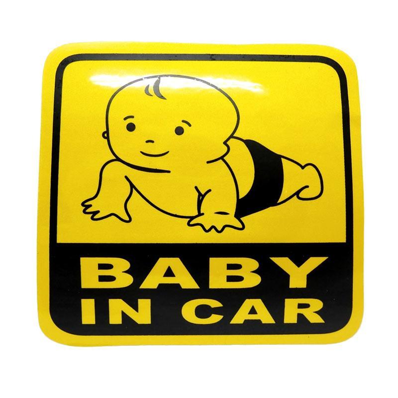 SIV STI-BABY01 Baby in Car Merangkak Sticker Universal