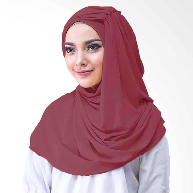 Milyarda Hijab Alesyana Jilbab Instan - Maroon