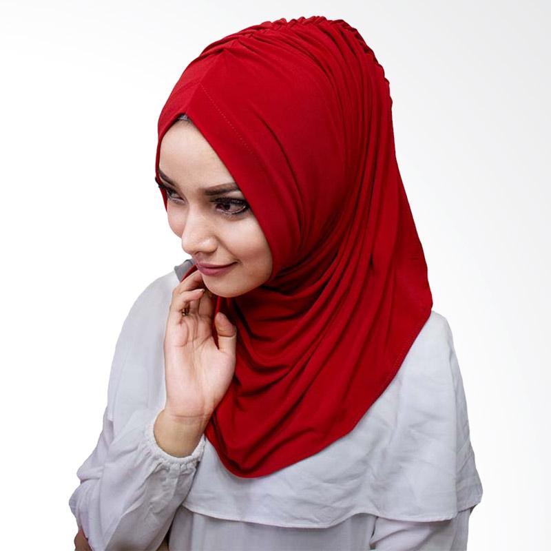 Milyarda Hijab Medirala Jilbab Instan - Merah