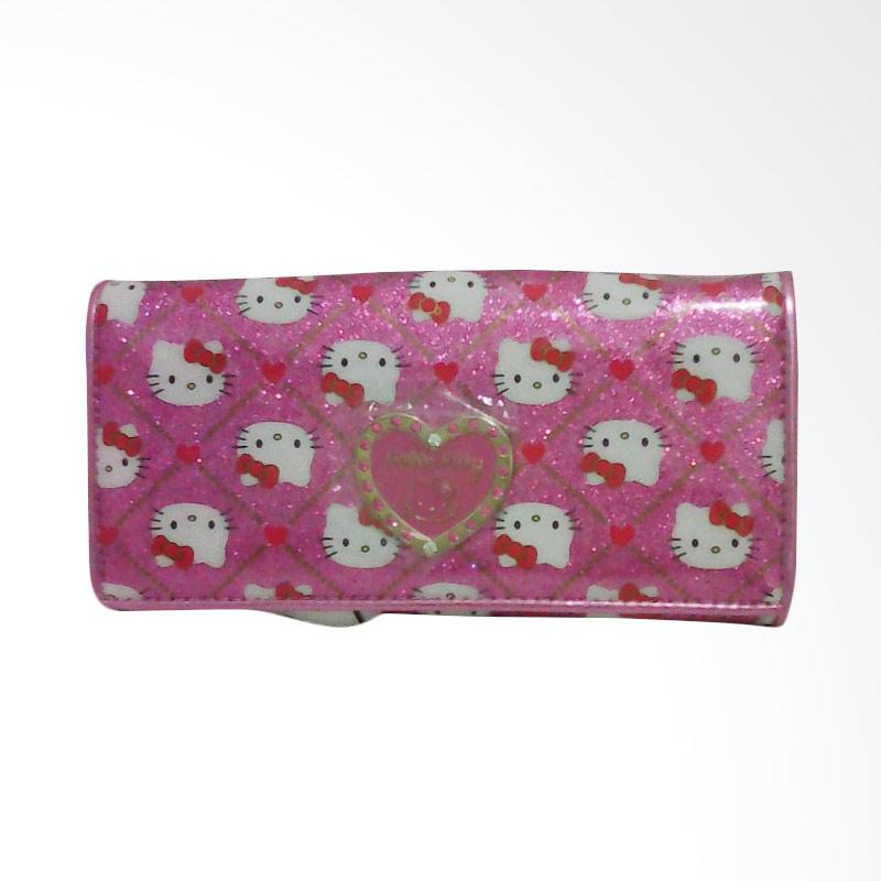 Hello Kitty HK Pink Heart Dompet Kartu - Pink