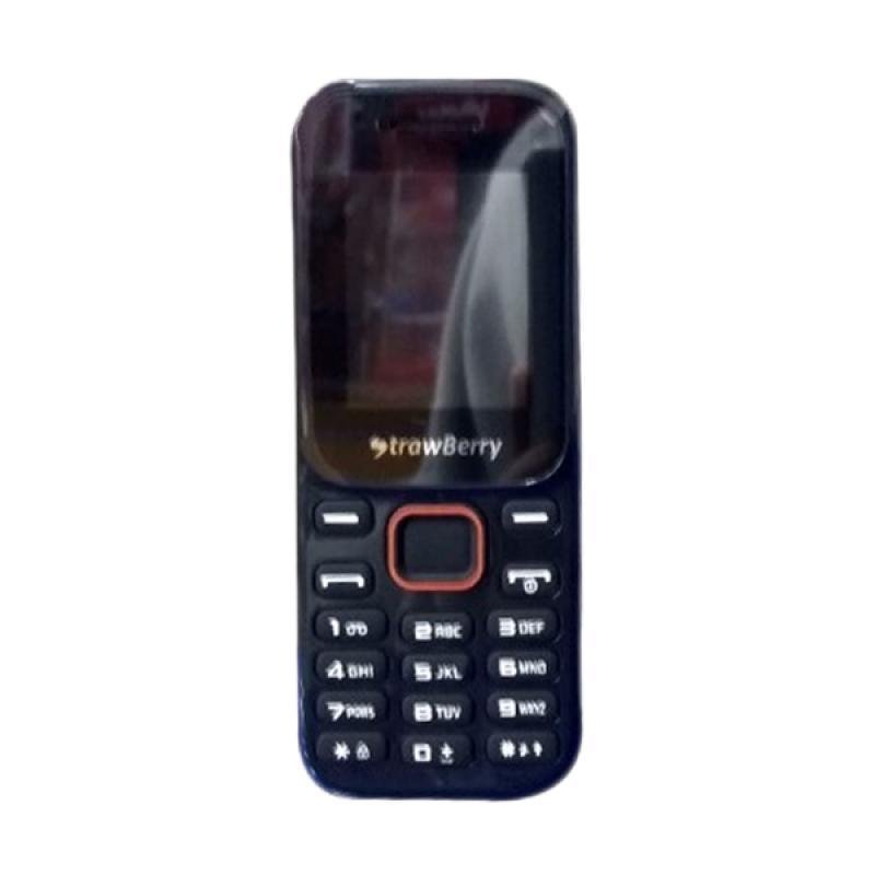Strawberry ST11 Stone Candybar Handphone - Black [Dual SIM]