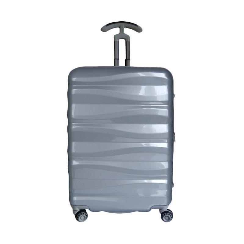 Traveler's Choice Edinburg Hardcase Koper - Silver [Large/31 Inch]