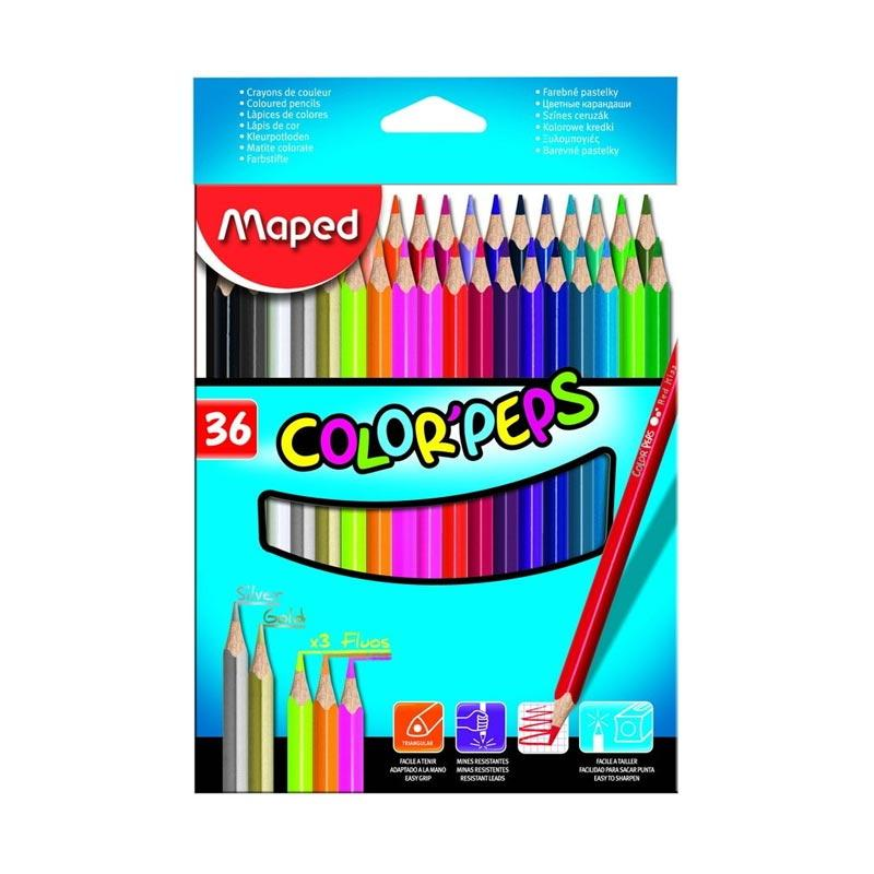 Maped Color Pep's Cardboard Box Set Pensil Warna [36 pcs]