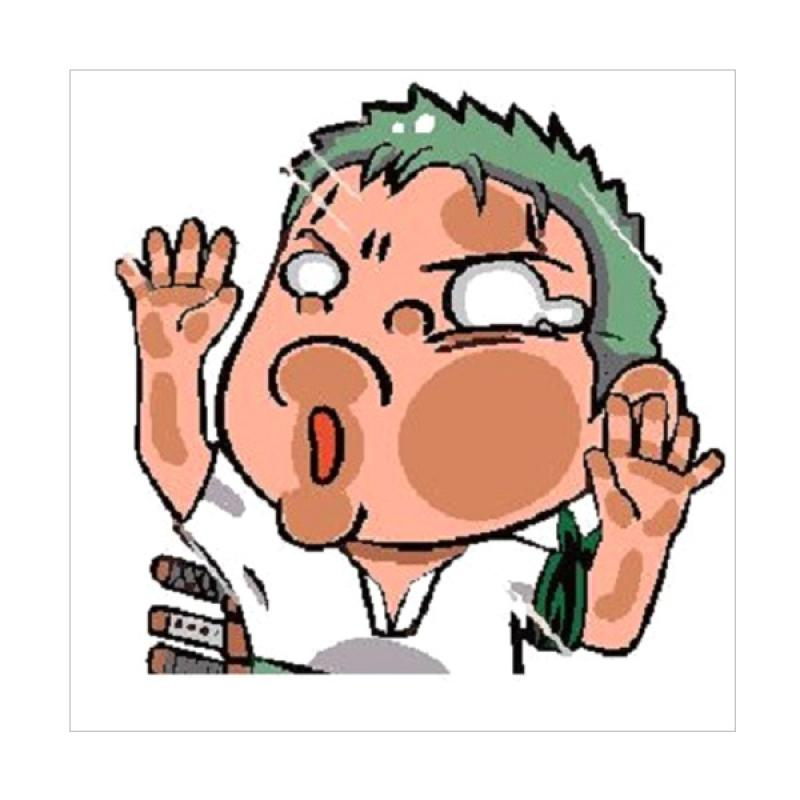OEM Zoro One Piece Hit the Glass Tabrak Stiker Mobil/Laptop/Motor
