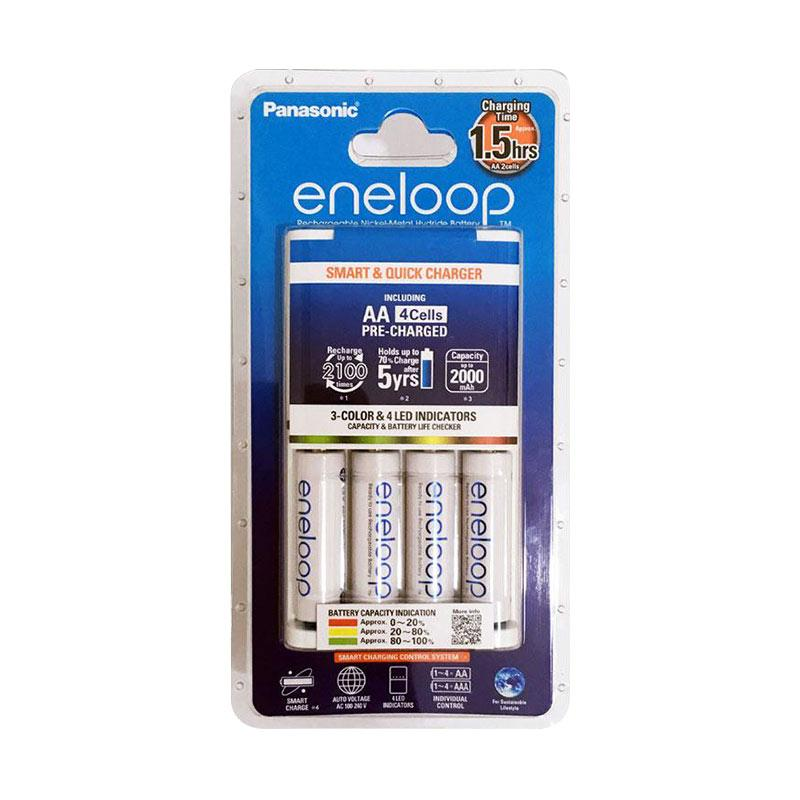 harga Eneloop Smart and Quick Charger for Battery Panasonic [4 AA x 1900 mAh] - Ladang Blibli.com