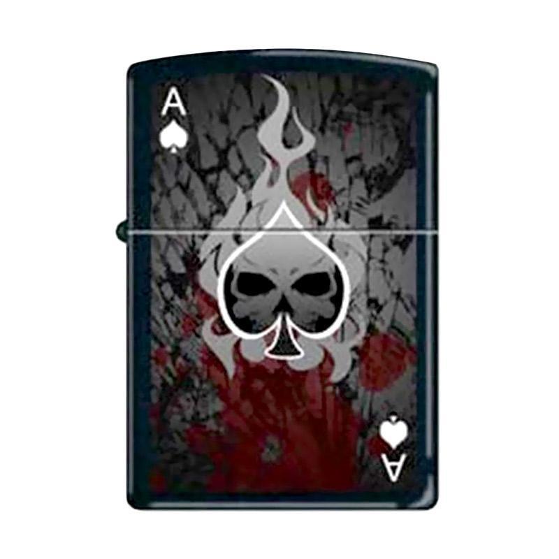 Zippo Ace Death 0649 Lighter - Black Matte