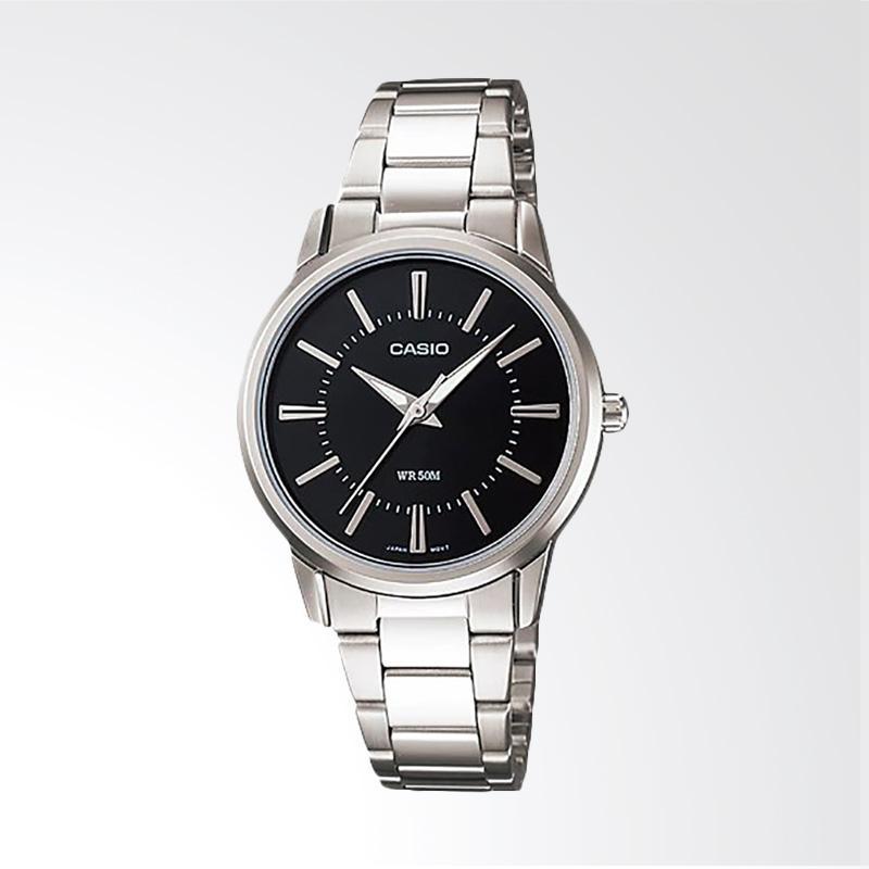 Casio LTP-1303D-1AVDF Enticer Ladies Black Dial Ion Plated Jam Tangan Wanita