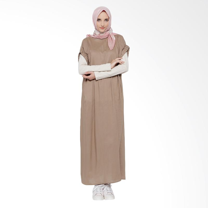 Irna Mutiara Roman Dress - Coklat [Outer Only]