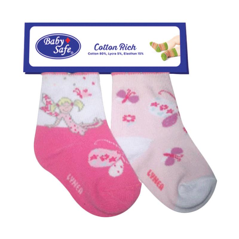 BabySafe Sock BSS 0511 H Kaos Kaki Anak - Pink [2 pcs]