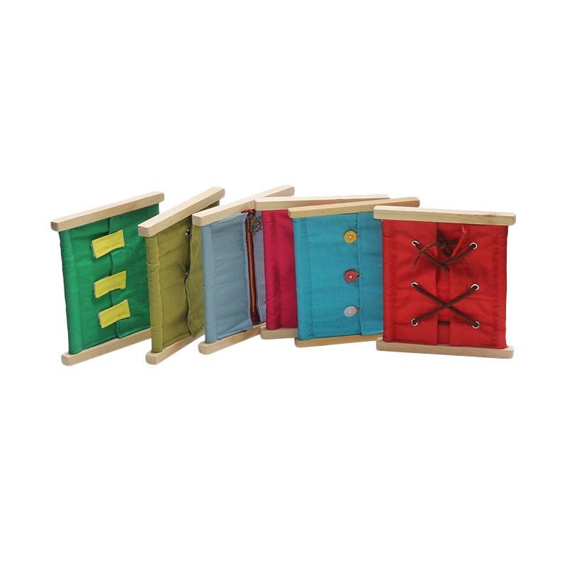 Atham Toys Montessori Kancing Mainan Kayu Edukatif