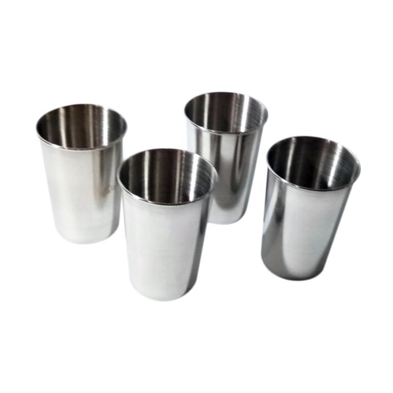 GCC Gelas Traveling set Mug Stainless Steel Coffee Cup Traveling [4pcs/set]