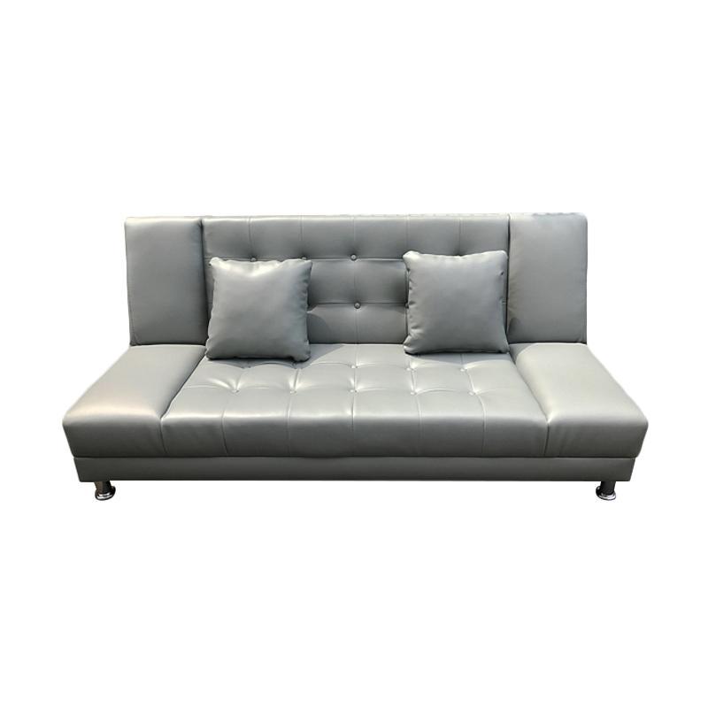 Best Furniture Jelly Sofabed Sofa Ranjang - Abu [Khusus Jabodetabek]