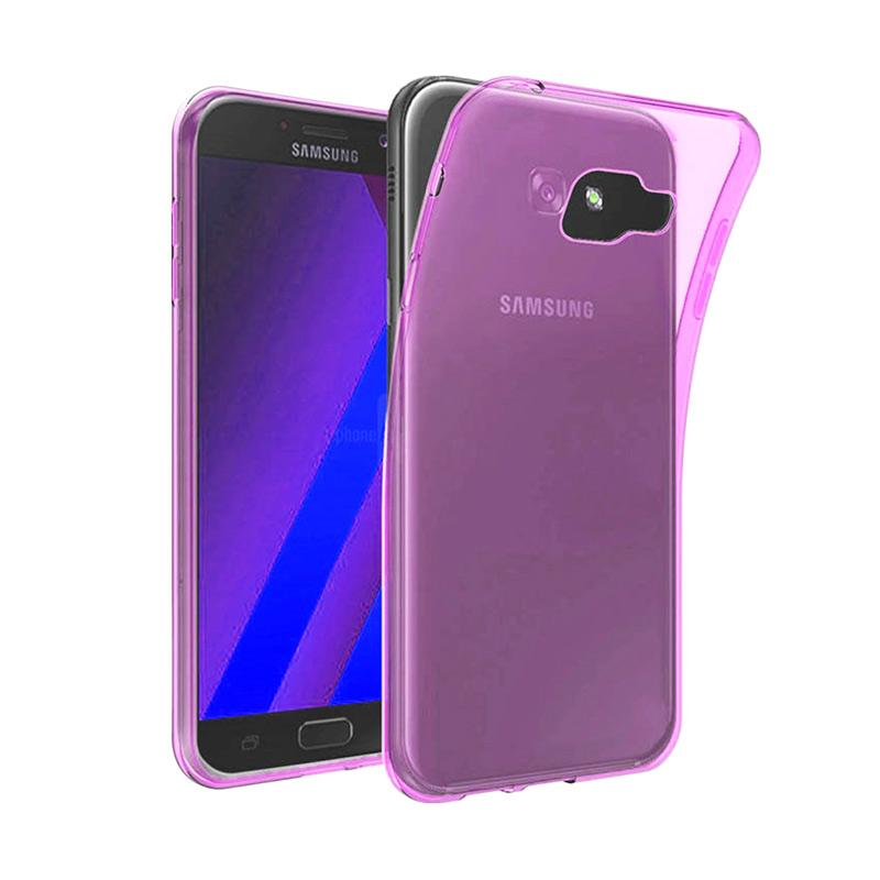 Ume Ultrathin Silicone Jellycase Softcase Casing for Samsung Galaxy A3 2016 A310 - Pink