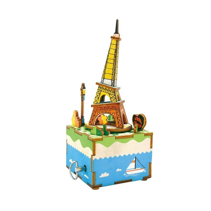 harga OHOME Kotak Musik AN-KU025D Puzzle Dekorasi Music Box Instrumental - Warni Blibli.com