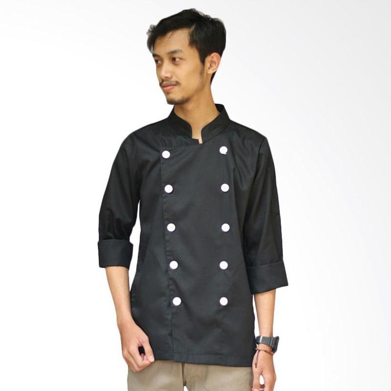 Malika Baju Chef Lengan Panjang - Hitam [Size XL]